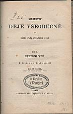 Ninger: Ningerovy děje všeobecné pro nižší třídy středních škol. Díl II, Střední věk, 1874