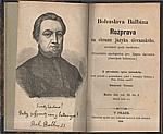 Balbín: Bohuslava Balbína Rozprava na obranu jazyka slovanského, zvláště pak českého, 1869