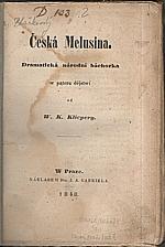 Klicpera: Česká Melusina, 1848