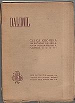 Dalimil: Česká kronika tak řečeného Dalimila, 1920