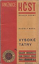 Máša: Vysoké Tatry, 1933
