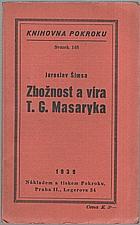 Šimsa: Zbožnost a víra T. G. Masaryka, 1939
