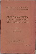 Stěhule: Československý stát v mezinárodním právu a styku, 1919