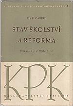 Čapek: Stav školství a reforma, 1947