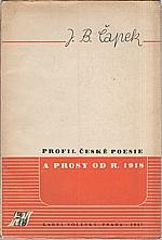 Čapek: Profil české poesie a prosy od r. 1918, 1947