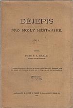 Soukup: Dějepis pro školy měšťanské. Díl I., 1919