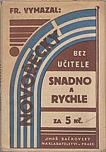 Vymazal: Novořecky snadno a rychle, 1930