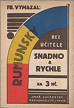 Vymazal: Rumunsky snadno a rychle, 1937