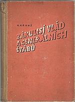 Kranz: Zákulisí vlád a generálních štábů : Francie 1933-40, 1942