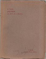 Taine: Jakobíni. Díl I.-II., 1908
