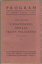 Palacký: Z politického odkazu Frant. Palackého, 1926