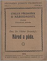 Dvorský: Národ a půda, 1919