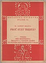 Milota: Proč stát trestá?, 1923