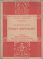 Baxa: Formy republiky, 1923