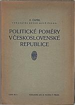 Čapek: Politické poměry v Československé republice, 1924