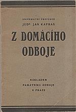 Kapras: Z domácího odboje, 1928