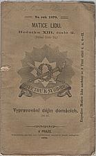Tonner: Vypravování dějin domácích. Díl III., Od záhuby rodu Přemyslova po meči r. 1306. až do smrti krále Vácslava IV. r. 1419. [část 1., do r. 1319], 1879