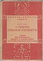 Hajn: O českých stranách politických, 1921
