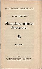 Krofta: Masarykova politická demokracie, 1935