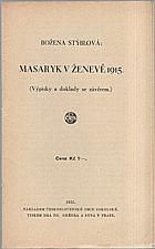 Stýblová: Masaryk v Ženevě 1915, 1935