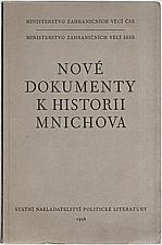 : Nové dokumenty k historii Mnichova, 1958