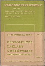 Korčák: Geopolitické základy Československa, 1938