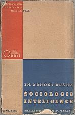 Bláha: Sociologie inteligence, 1937