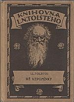 Tolstoj: Mé vzpomínky, 1924