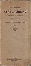 Farský: Stát a církev, 1924