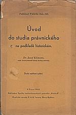 Kliment: Úvod do studia právnického na podkladě historickém, 1932