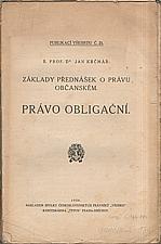 Krčmař: Základy přednášek o právu občanském. Právo obligační, 1926