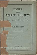 Hobza: Poměr mezi státem a církví, 1931