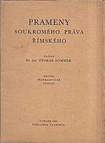 Sommer: Prameny soukromého práva římského, 1932