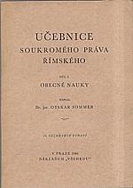 Sommer: Učebnice soukromého práva římského. I-II, 1946