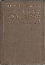 Dalton: Základy veřejných financí, 1930