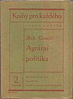Tumlíř: Agrární politika, 1928