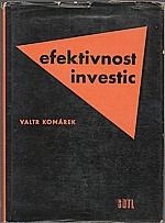Komárek: Efektivnost investic, 1963