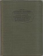 Engliš: Vybrané kapitoly z národního hospodářství, 1925