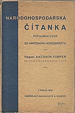 Pimper: Národohospodářská čítanka, 1930