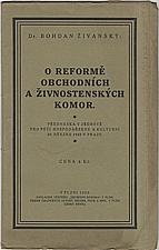 Živanský: O reformě obchodních a živnostenských komor, 1922