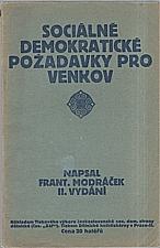 Modráček: Sociálně demokratické požadavky pro venkov, 1911