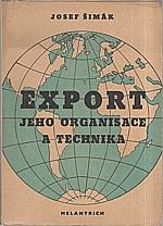 Šimák: Export, jeho organisace a technika, 1946