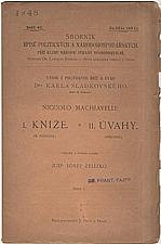 Machiavelli: Kníže ; Úvahy, 1900