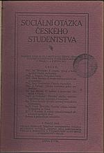 : Sociální otázka českého studentstva, 1914
