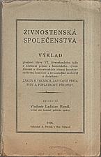 Mendl: Živnostenská společenstva, 1926