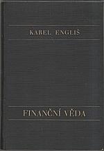 Engliš: Finanční věda, 1929