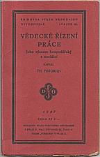 Pistorius: Vědecké řízení práce, 1927