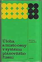 Sabolčík: Úloha a místo ceny v systému plánovitého řízení, 1977