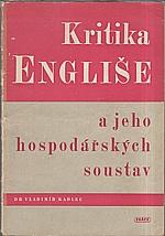 Kadlec: Kritika Engliše a jeho hospodářských soustav, 1948