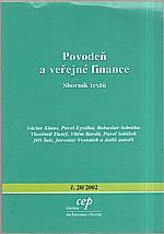 : Povodeň a veřejné finance, 2002